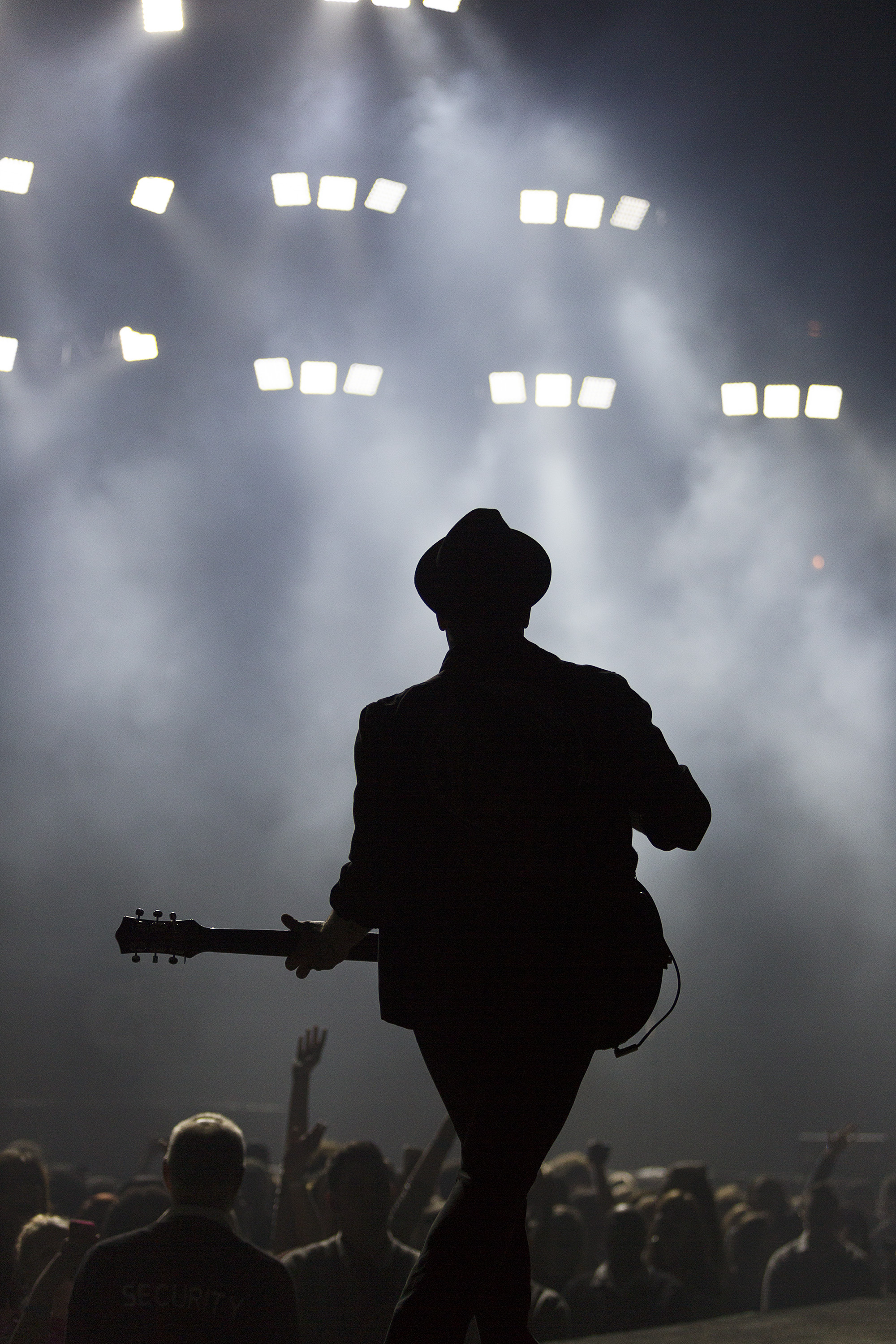 Patrick Stump, lead singer of rock band Fall Out Boy, performs during a show at the United Center, March 12.