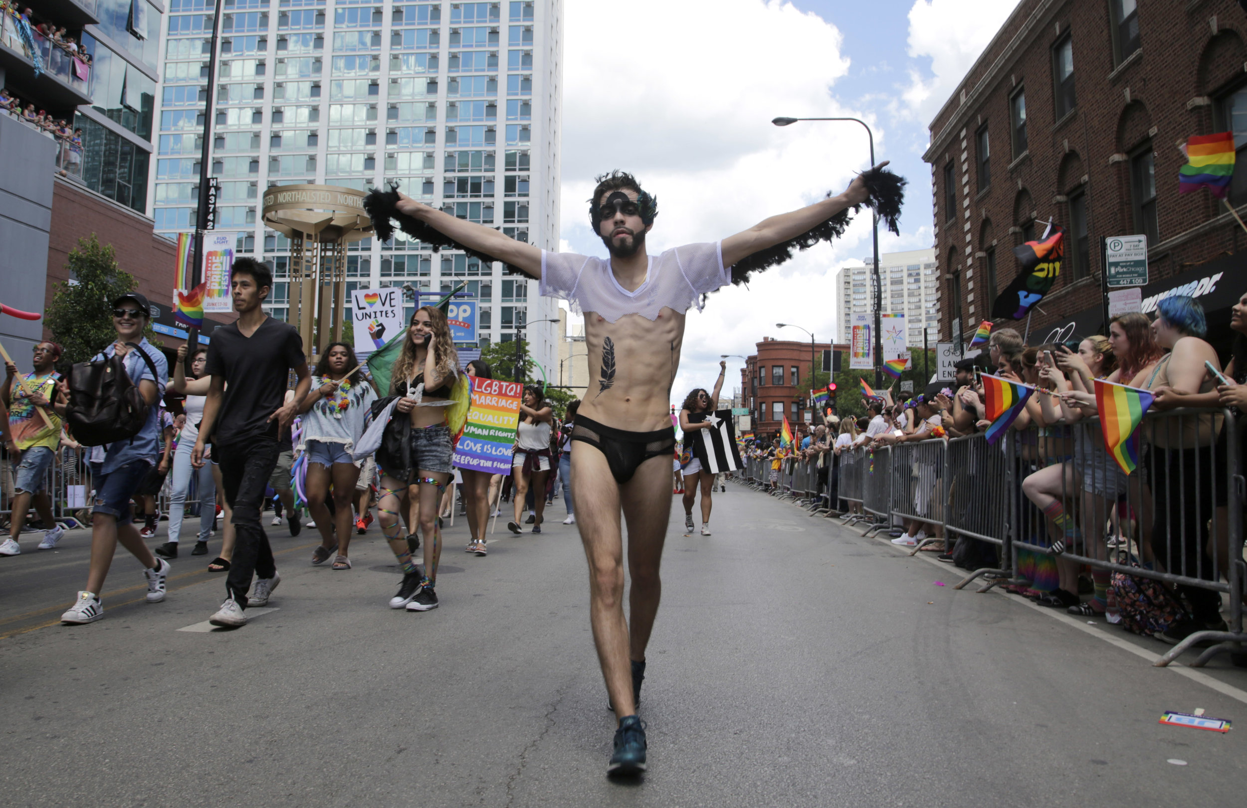 Miguel Deltoro participate in 48th Annual Chicago Pride Parade. Sunday, June 25, 2017. Organizer anticipated around 1 million participants take part in this year Parade. (AP Photo/G-Jun Yam)