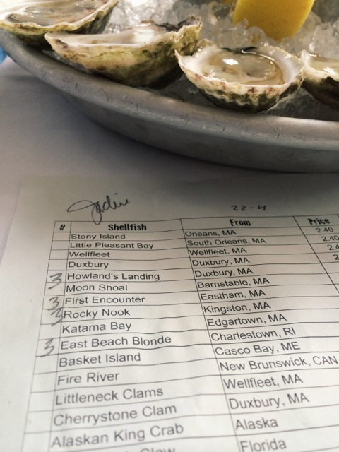 Oyster tasting