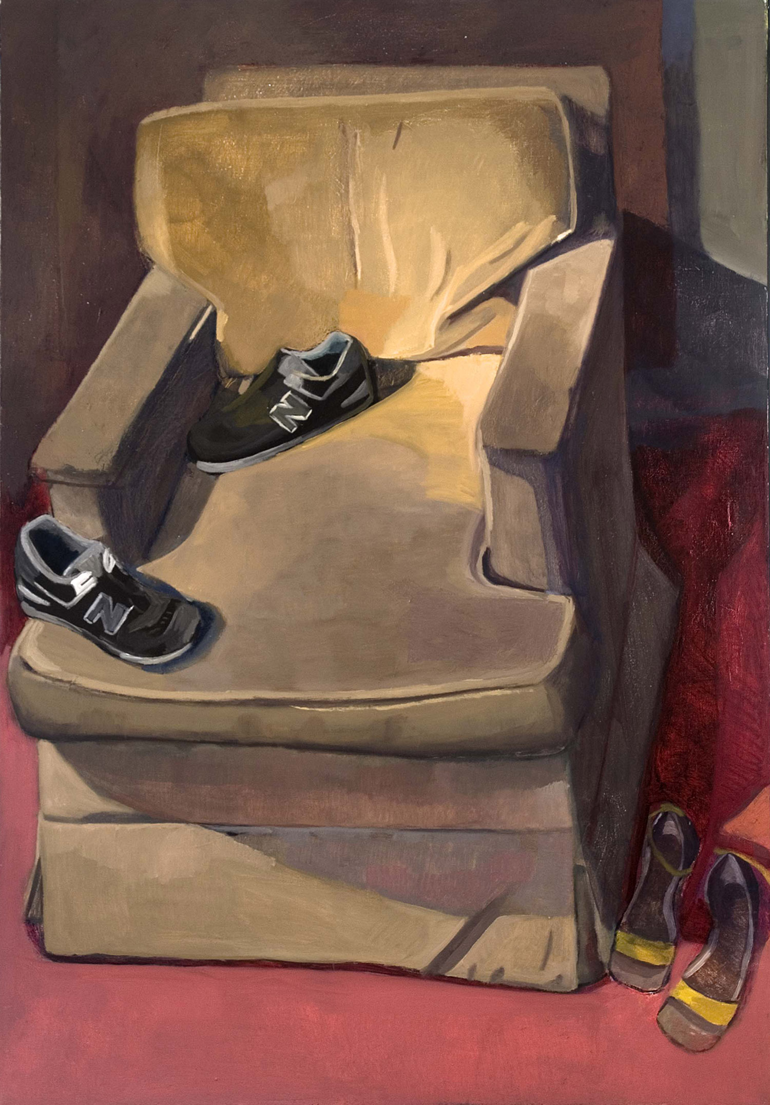 "Not the Right Fit   Dimensions: 50""x35""  Medium: Oil on Linen  Year: 2007"