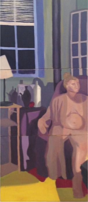 "Size:  50""x24""   Medium : Oil on canvas  School:  Arcadia University,2015"