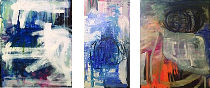 "Size: 35""x25"", 35""x18"", 35""x30""   Medium:  Oil on canvas  School:  Arcadia University, 2015"