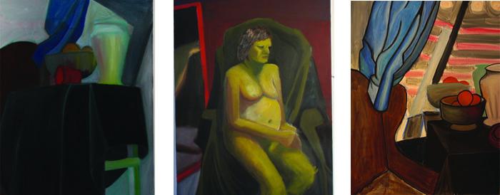 "Size: 50""x30"", 50""x30"", 55""x35""   Medium:  Oil on canvas   School:  Arcadia University 2015"