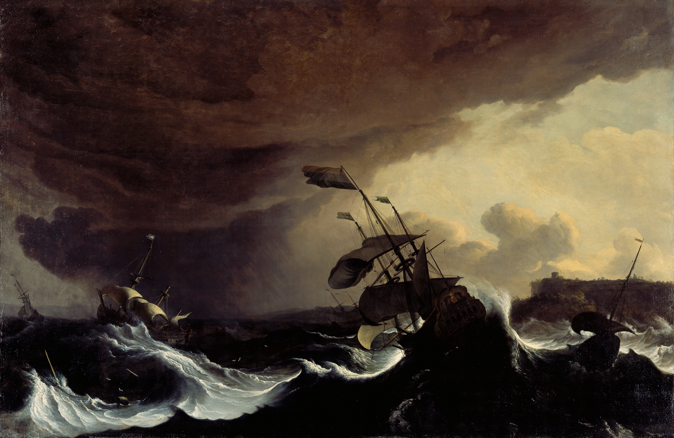 Backhuysen, Ships in a Stormy Sea off a Coast, 98_13 (HB).jpg