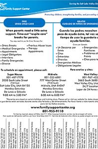 Crisis Nursery Tear Strips -