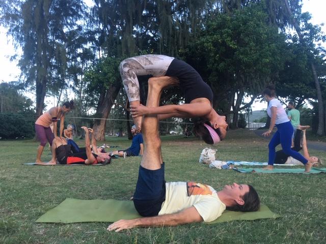 Kailua acro-yoga fun!