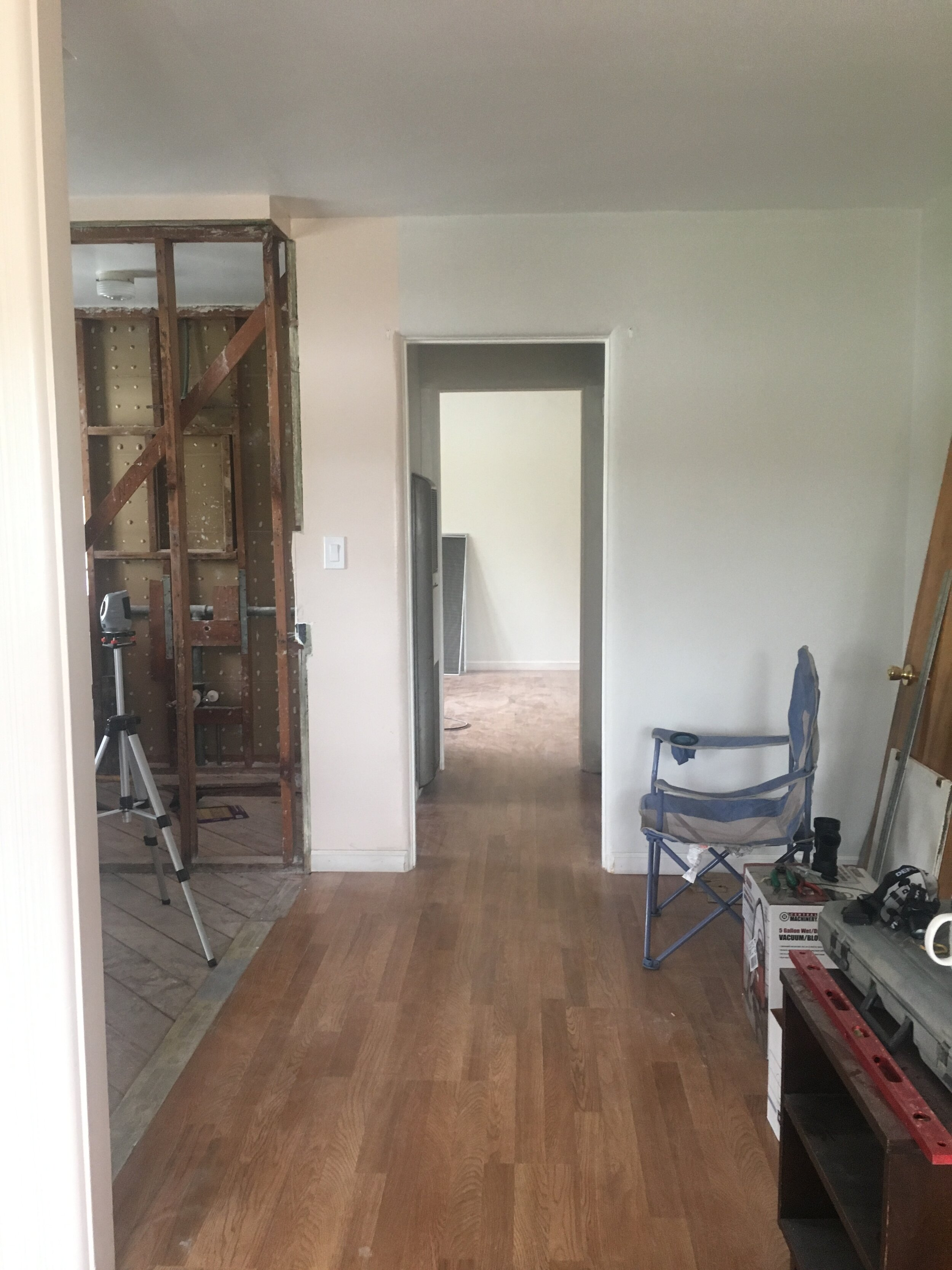 Before: the space right side of the entry way was unused.