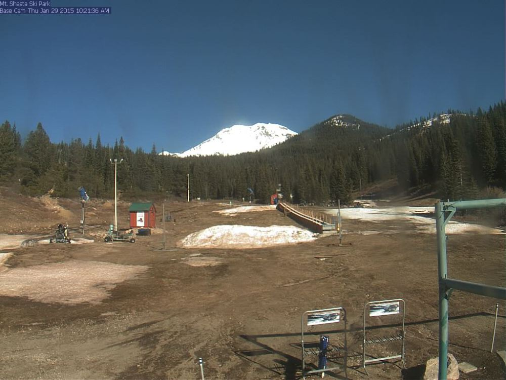 "Mt. Shasta Ski Resort in January. Average snowfall: 275"" annually."