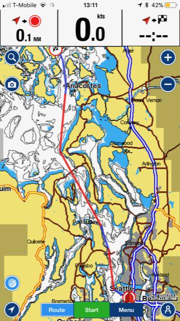 nautical charts app screenshot