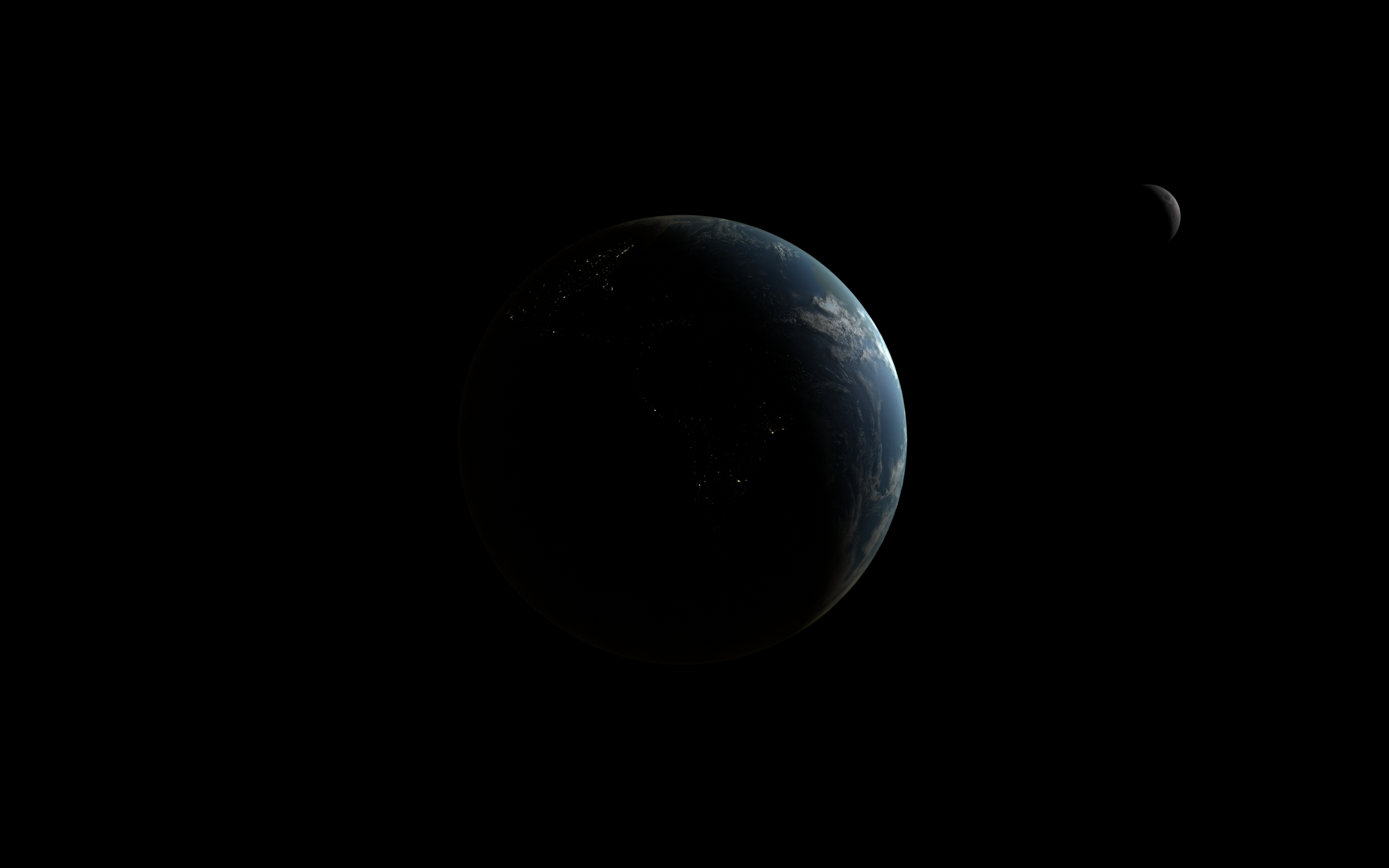 Earth and Moon, nighttime crescent. My personal favorite so far.