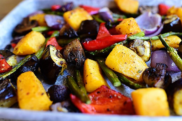 2. Roast a variety of your favorite veggies to incorporate into meals throughout the week.