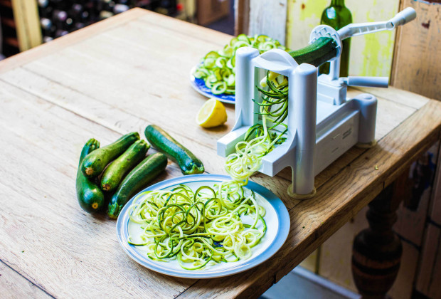 3. Befriend the SPIRALIZER.  This ingenious mechanism transforms various foods into noodles! Read  here  to learn more about how you can use this fun gadget to make delicious, yet nutritious dishes.