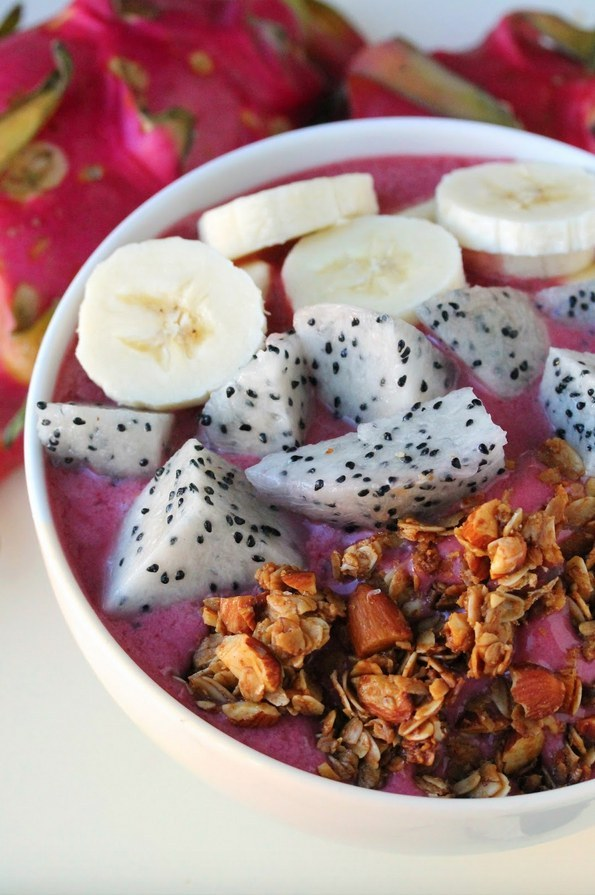 1. Dragonfruit Acai . Recipe  here .