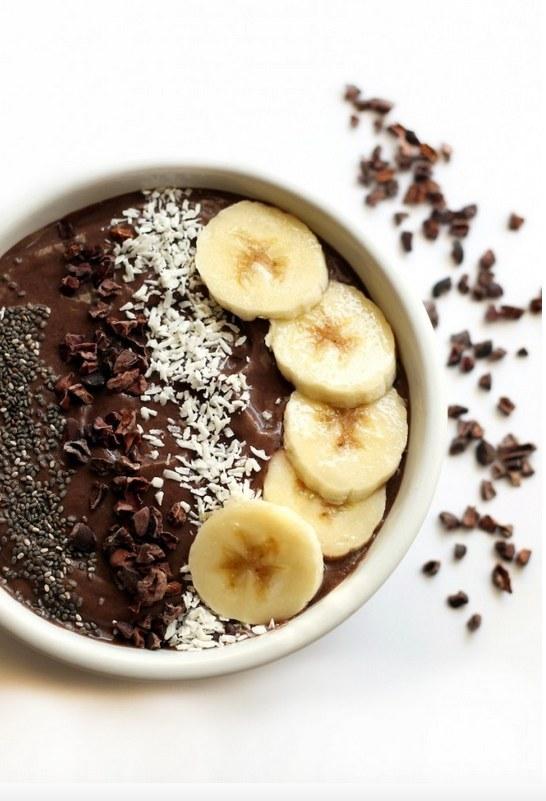 2.  Banana Cacao Avocado Acai Bowl . Recipe  here .