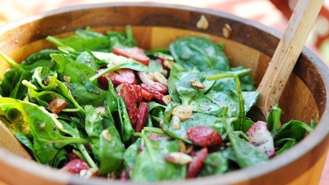 2. Order salad before anything else.