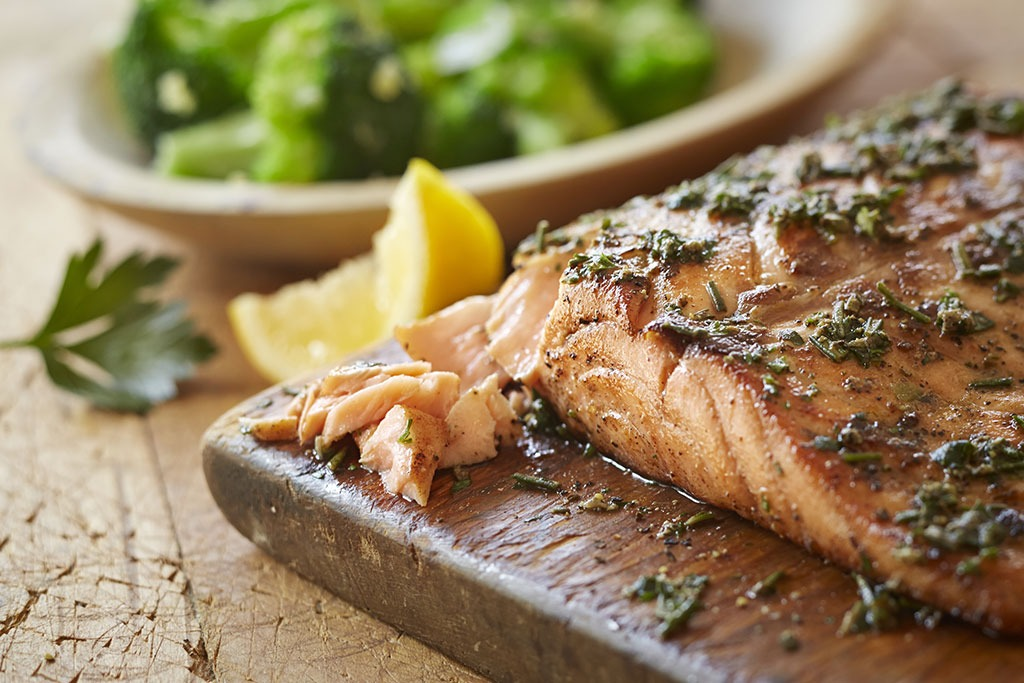 4. Opt for the fish option for your entree.