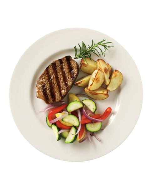 4.  1+1+1 . Keep in mind the rule of 3:one protein, one starchy carb, and one produce per meal!