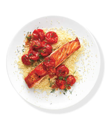 5.  Salmon With Sautéed Tomatoes . See recipe  here .