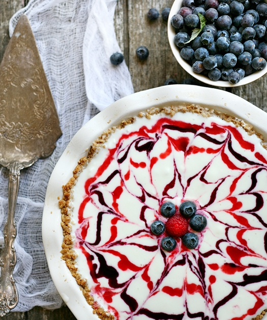 3.  Red, White, and Blueberry Ice Cream Pie . See recipe  here .