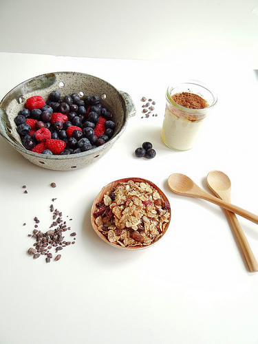 4. Cocoa Nibs Breakfast Parfait . See recipe  here .