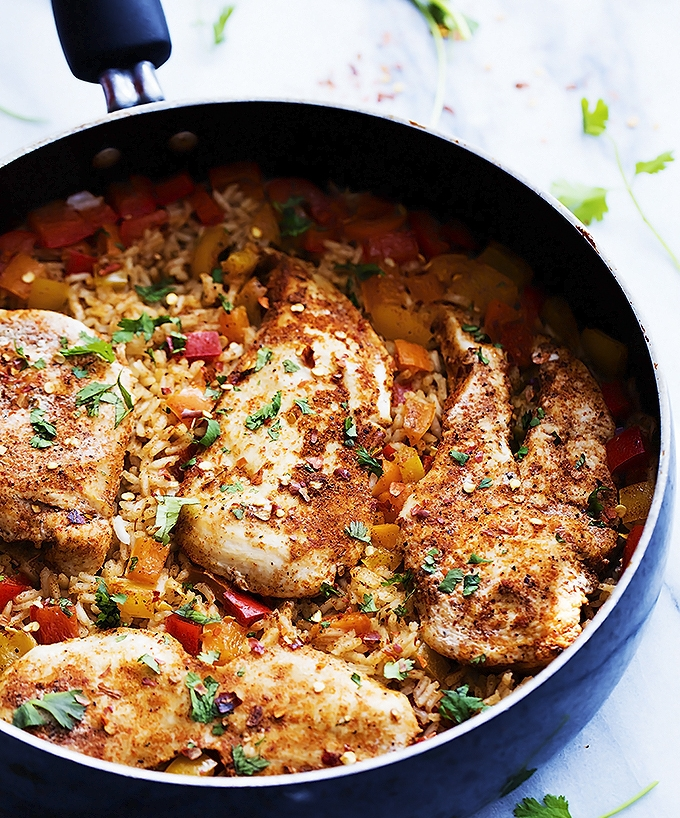 4.  Spicy Cajun Chicken and Rice . See recipe  here .