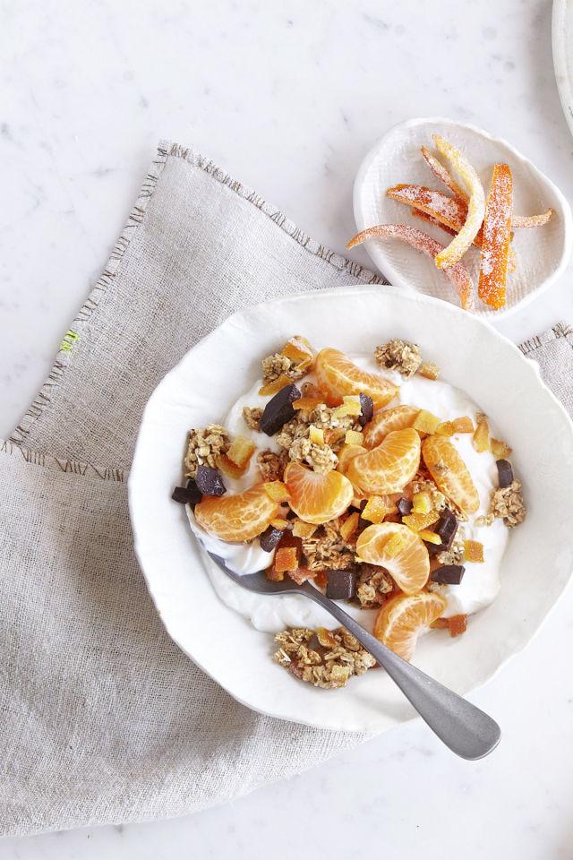 4. Candied Orange Peel Granola.  See recipe  here .