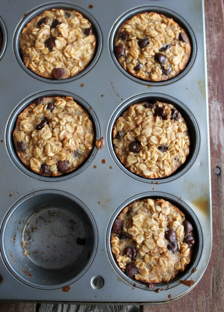 5.  Banana and Chocolate Chip Baked Oatmeal Cups . See recipe  here .