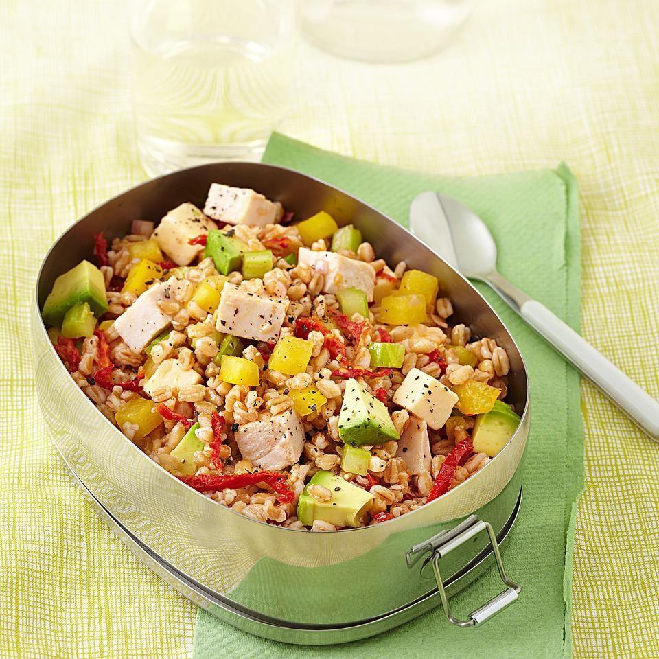 4. Smoked Turkey & Farro Salad.  See recipe  here .