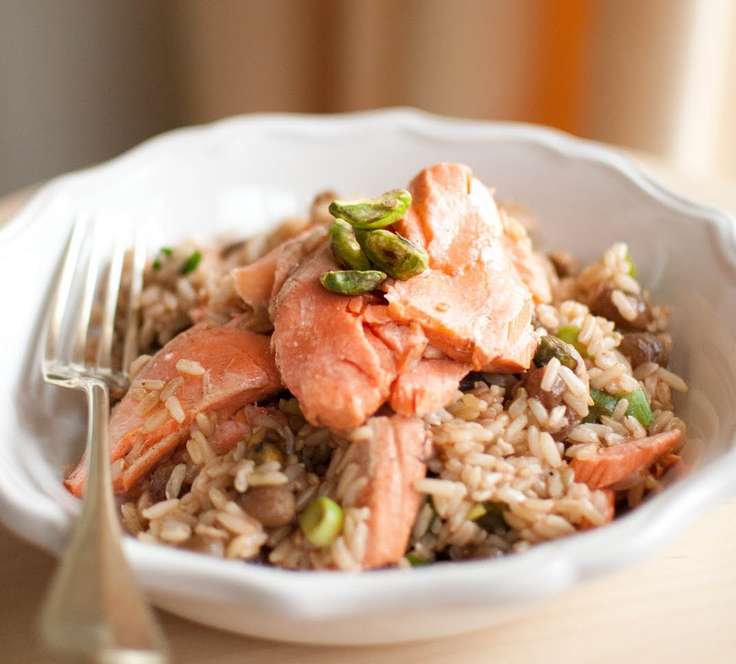 Tea Poached Salmon with Fragrant Brown Rice.jpg