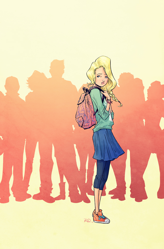 Adolescence #1 cover, digital<br>Comic book written by Polly Bruce, 2013