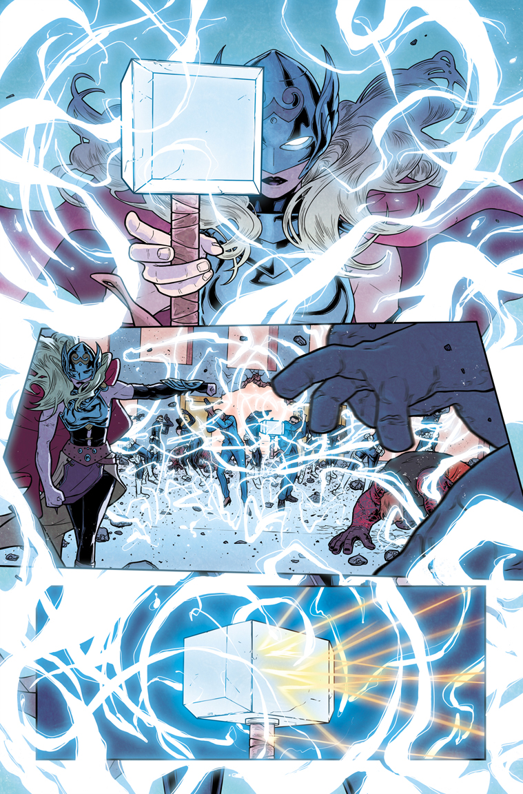 THE MIGHTY THOR #10 p14, with color by Matt Wilson. Marvel, 2016