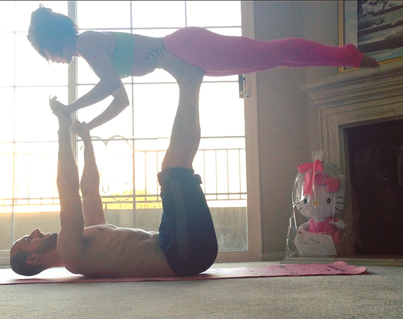 First successful attempt at acroyoga!