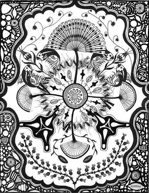 Diatoms Iznik Pottery Style ( more info )