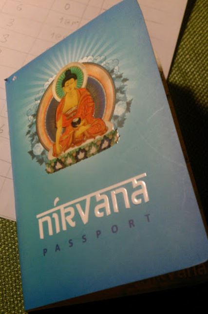 Photo: The notebook I am using for journaling my mood/exercise/meditation.