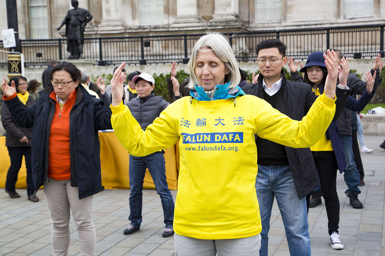 LONDON, UK, Sunday 24 April 2016Commemorating April 25th 1999. The first peaceful appeal against the persecution of Falun Gong in China. PHOTOS: Si Gross
