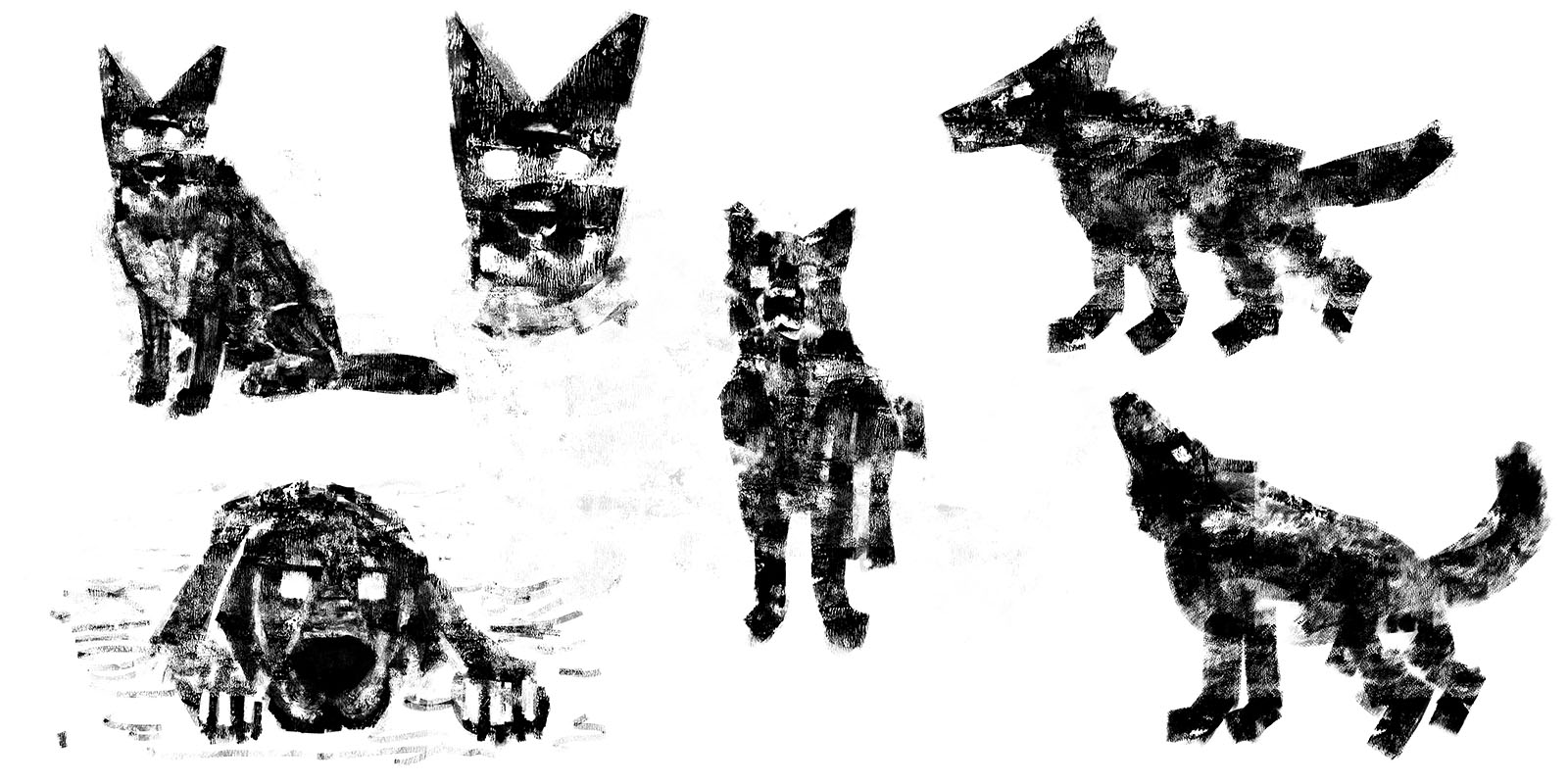 Thought Police Dog Squad - Dog Sketches