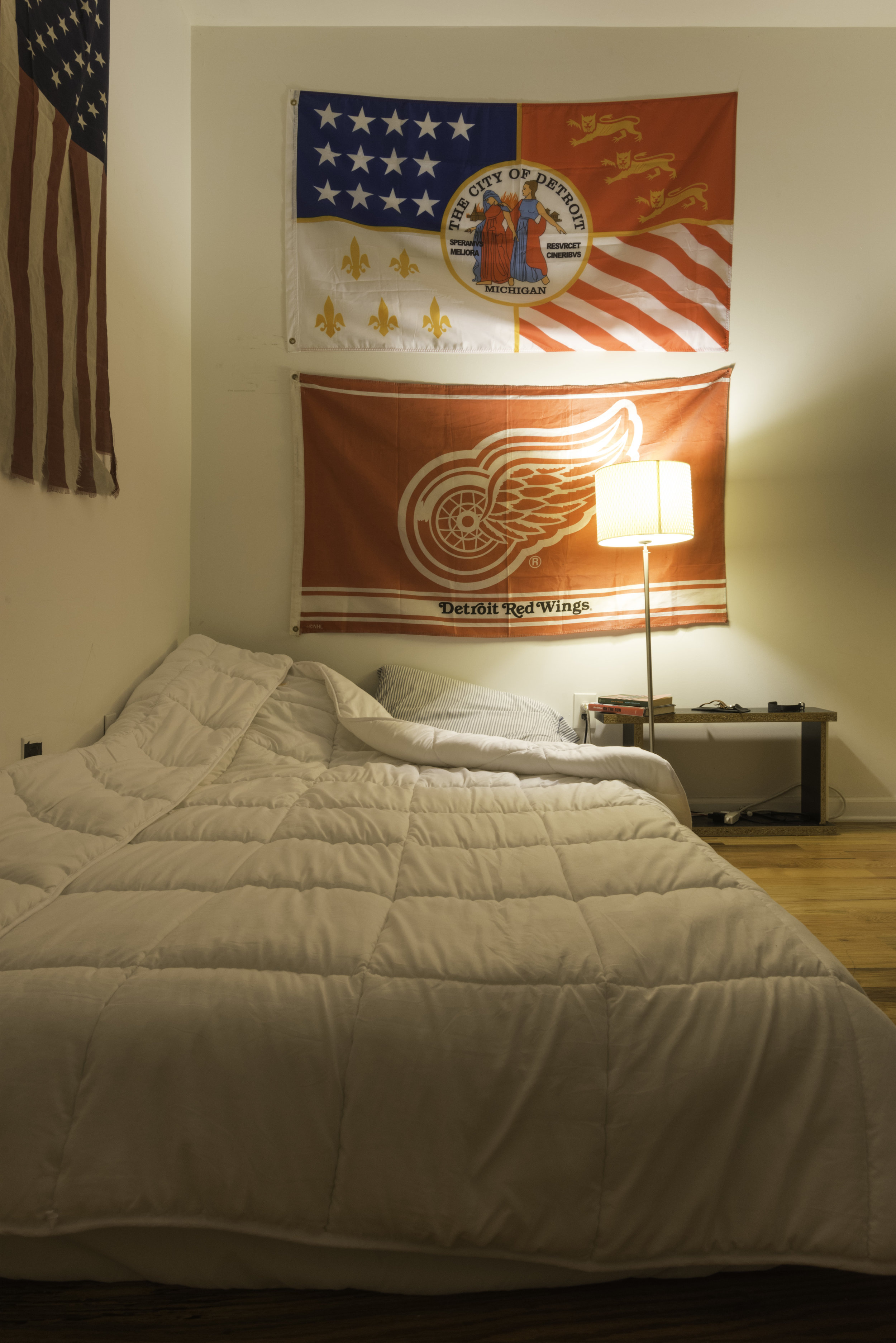 Seriously -flags do wonders to make your room actually feel like home.