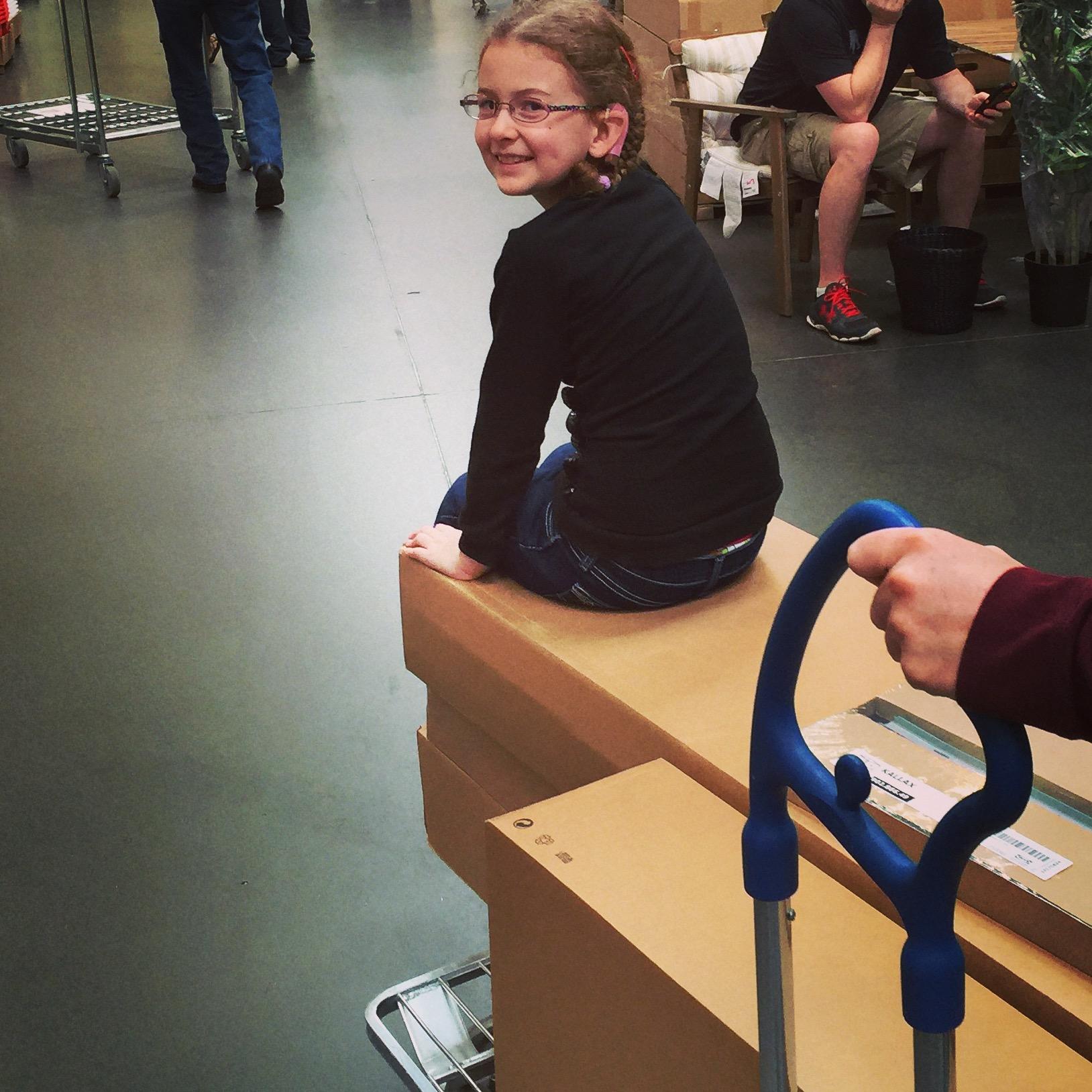 Eleanor enjoying a recent trip to IKEA