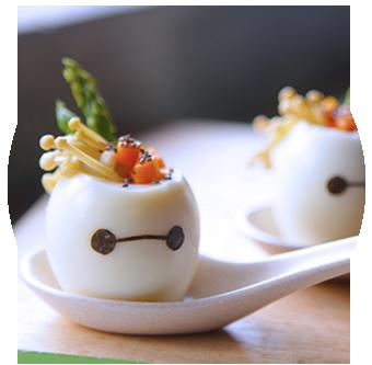 Baymax Stuffed Eggs