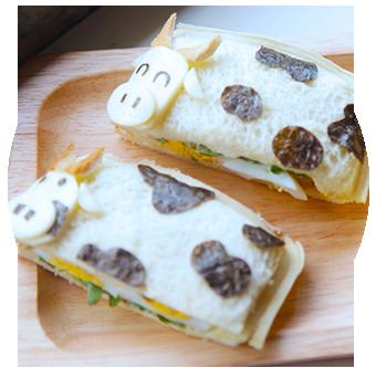 Moo Moo Cow Pocket Sandwiches