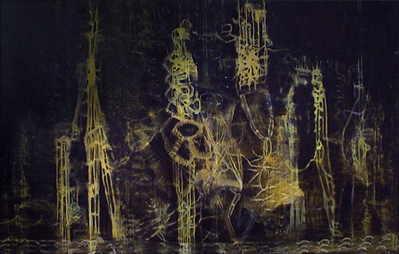 Loop Quantum | Tina Douglas | 1520 x 2440 mm | Egg tempera on canvas | Place Gallery, Melbourne | 2004 | Private Collection