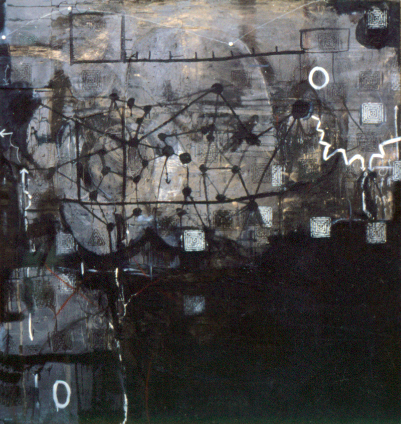 Of | Tina Douglas | Oil paint, enamel, graphite on canvas | 220 x 210cm | 1993 | Pinacotheca Gallery, Melbourne | Private Collection