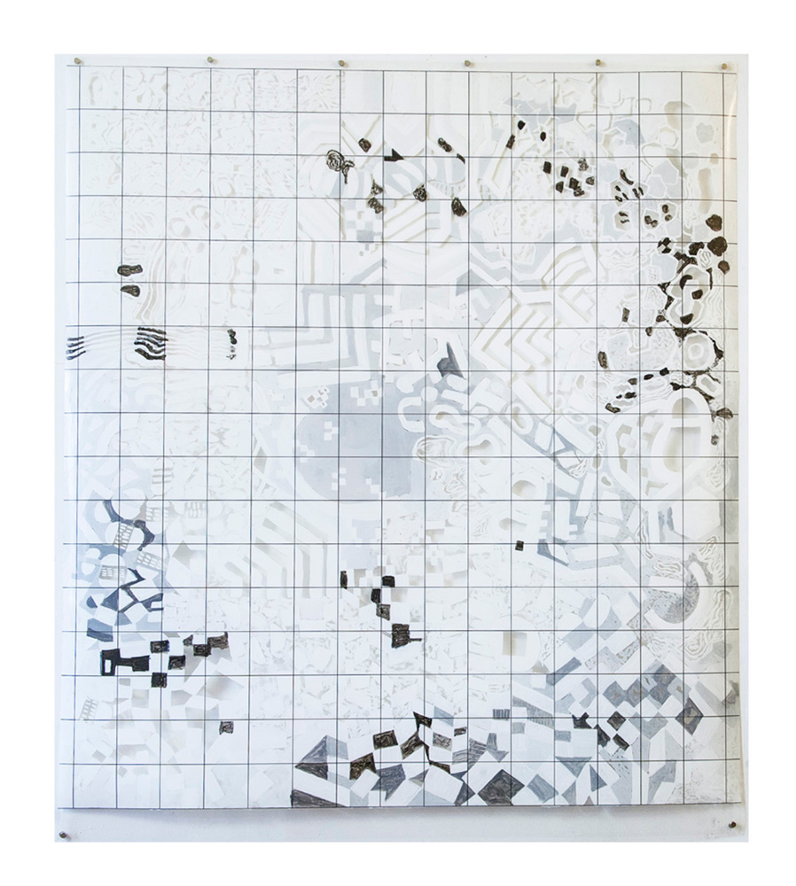Sampling Error | Tina Douglas | 180 x 137cm | Acrylic paint on printed acetate grid |  2013 | Remote Access | Place Gallery, Melbourne | 2013 | Private Collection