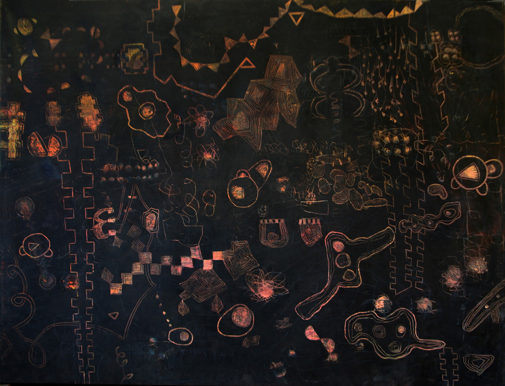 Time Micro Active | Tina Douglas | Egg tempera on linen | 2000 x 1500 mm | Place Gallery, Melbourne| | 2011