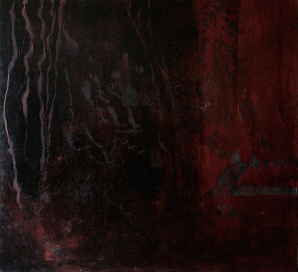 Time Micro Acknowledge | 182cm x170cm | Egg tempera on linen | Place Galllery, Melbourne | 2011