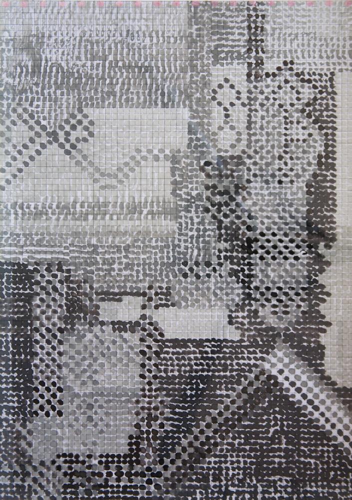 X,Y,Z Mundi | Tina Douglas | Detail | Each acetate panel 297 X 420cm, installation dimensions variable | Paint on acetate, magnets | 2012