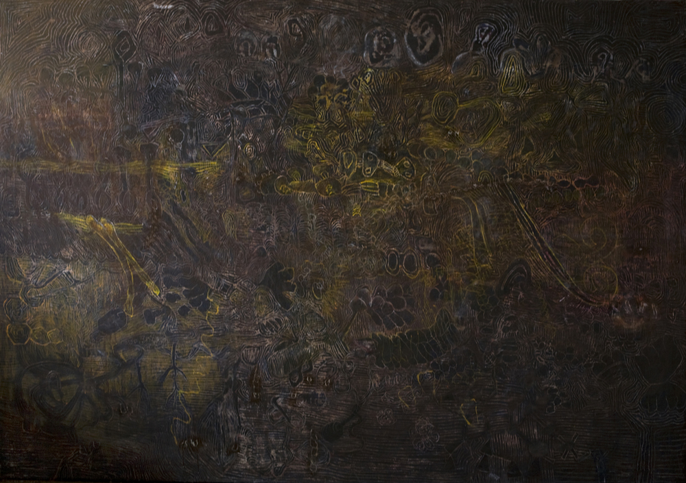In-Map | Egg tempera on canvas | 168 x 200cm| Place Gallery, Melbourne | 2009