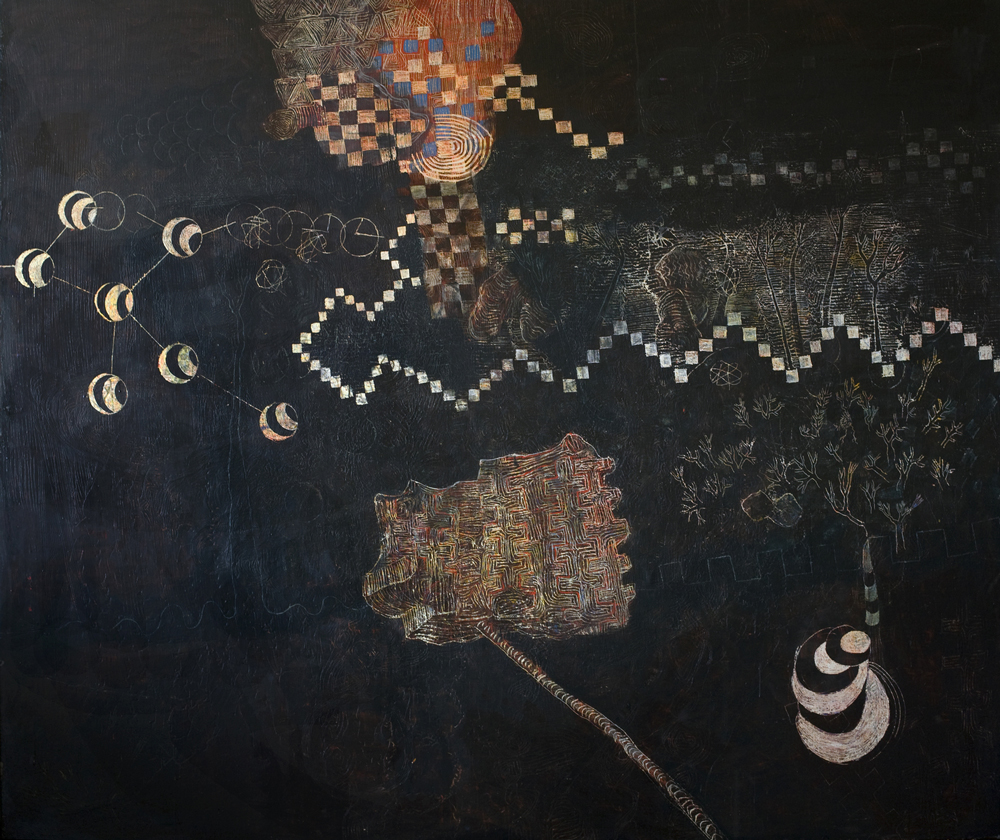 Is-Map   Tina Douglas   Egg tempera on linen   2000mm x 2400mm   Place Gallery, Melbourne   2009   Private Colllection