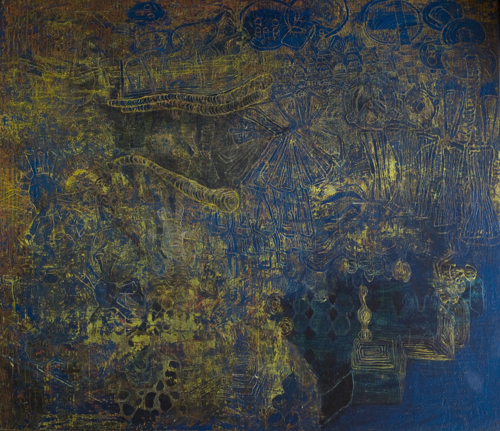 With-Map | Egg tempera on canvas | 168 x 200cm| Place Gallery, Melbourne | 2009