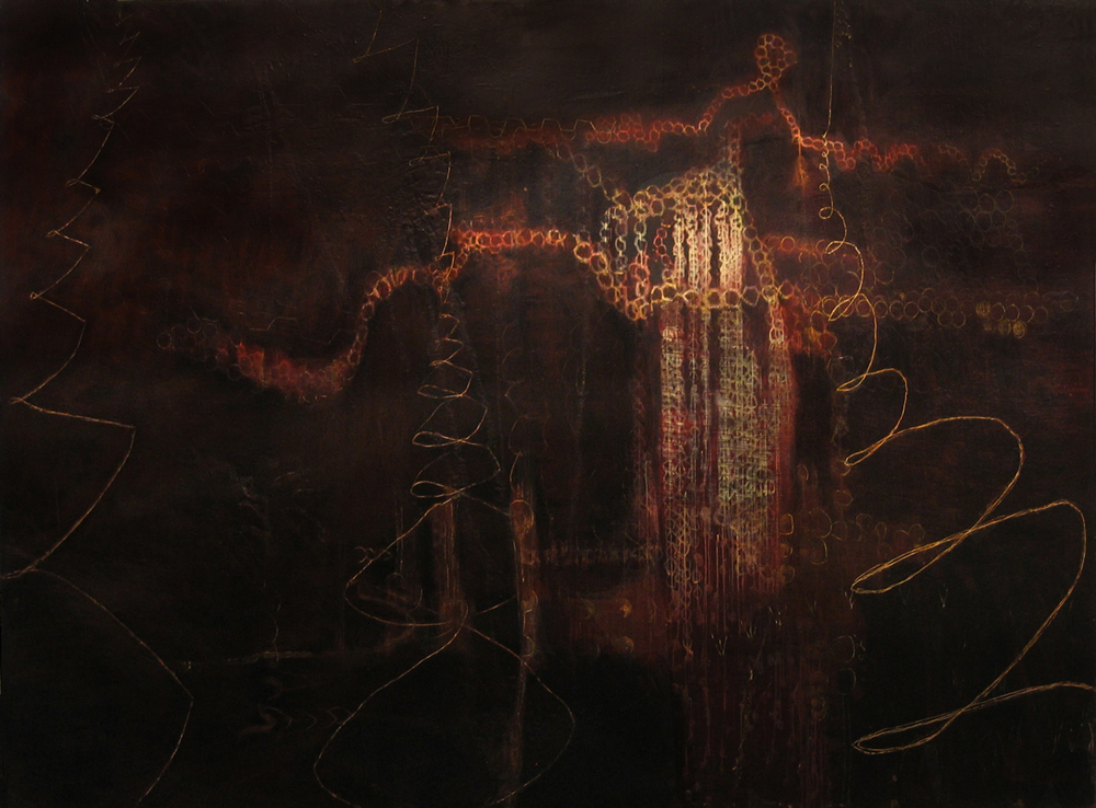 Painting 4 | Tina Douglas | 2006-07 | Egg tempera on canvas | 198 x 183 cm | Place Gallery | Melbourne | 2009